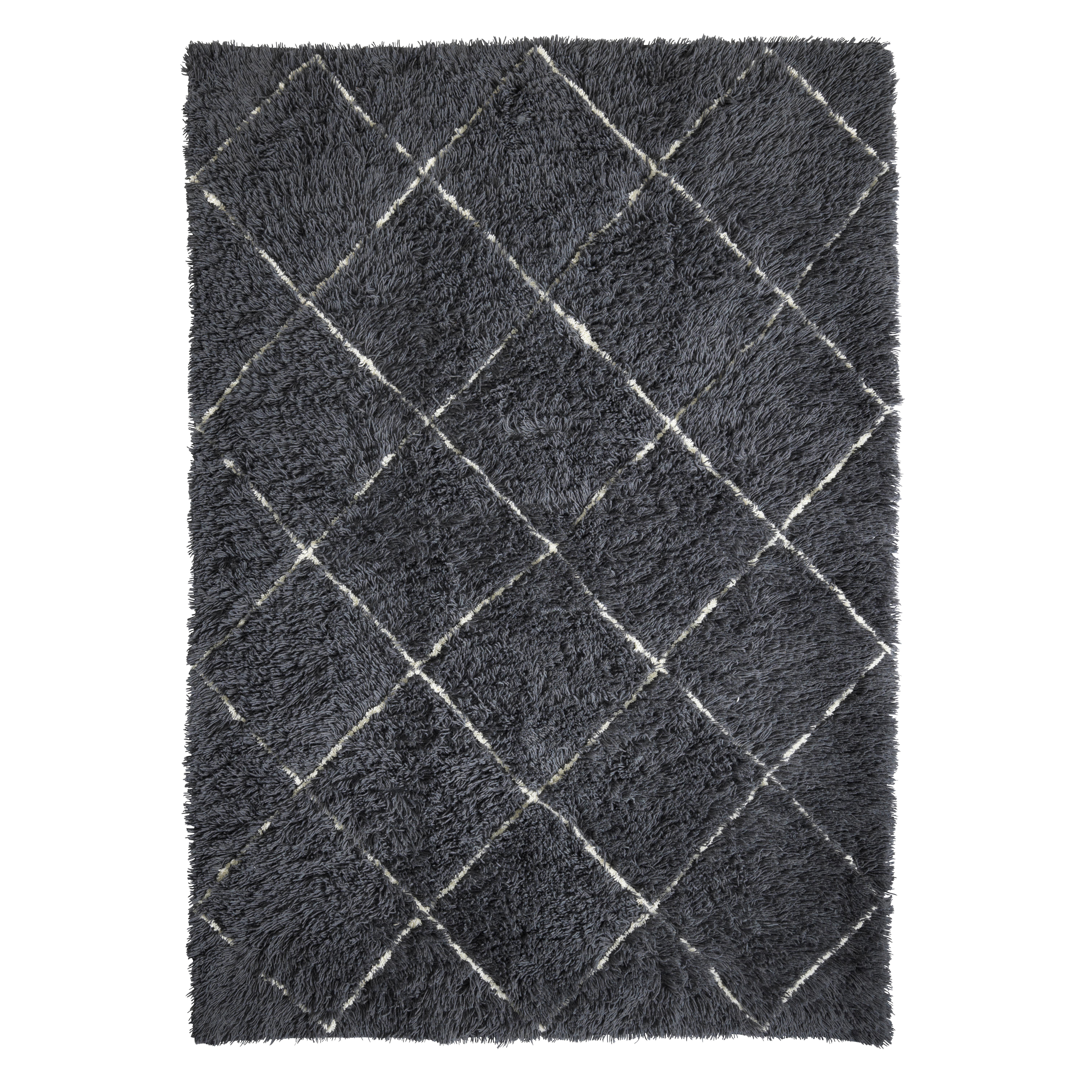 Image of   Living&more gulvtæppe med grafisk mønster - Poona - Sort/natur