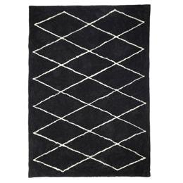 Image of   Living&more gulvtæppe med grafisk mønster - Solapur - Sort/hvid