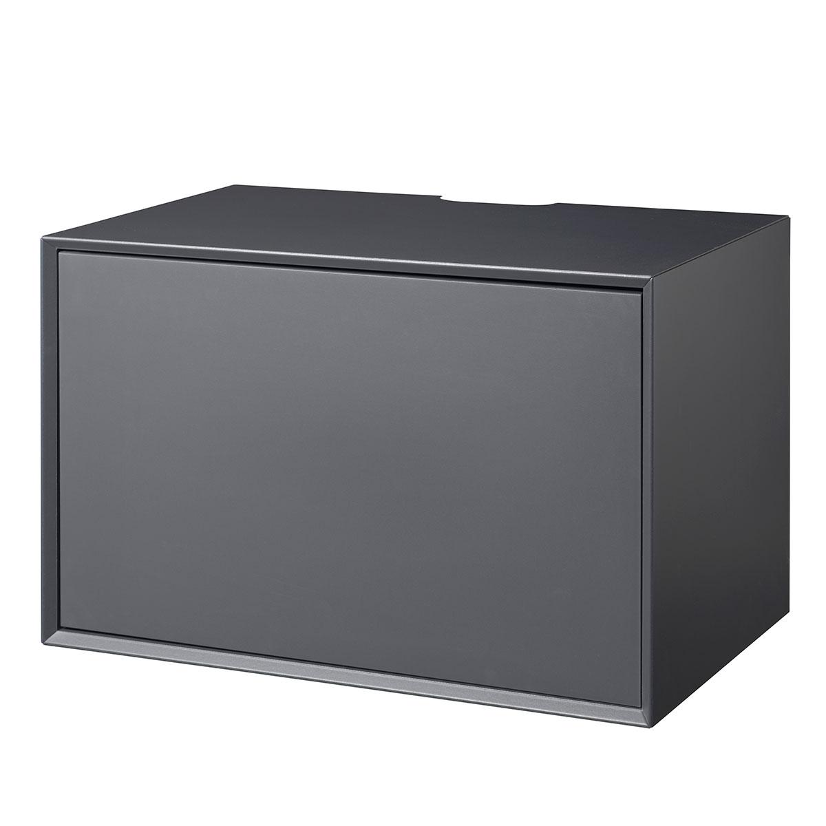 Image of   Living&more hi-fi skab - The Box - 37 x 58 x 34 cm - Antracit