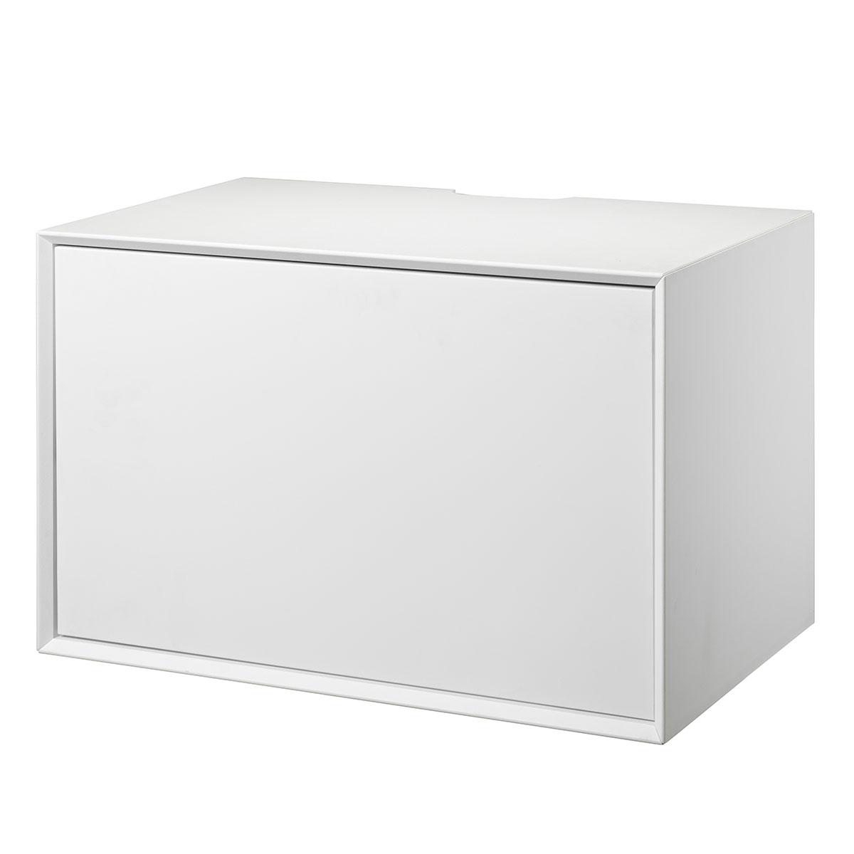 Image of   Living&more hi-fi skab - The Box - 37 x 58 x 34 cm - Hvid