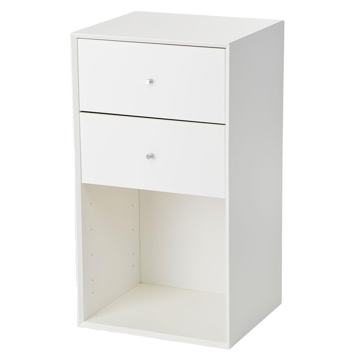 Image of   Living&more reol med skuffer - The Box - 71,2 x 39,4 x 34 cm - Hvid
