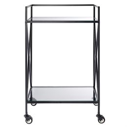 Living&more rullebord - Cross - Klart glas/metal