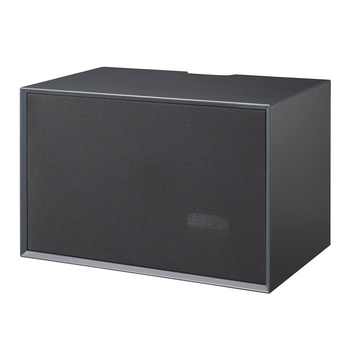 Image of   Living&more skab med stoflåge - The Box - 37 x 58 x 34 cm - Antracit