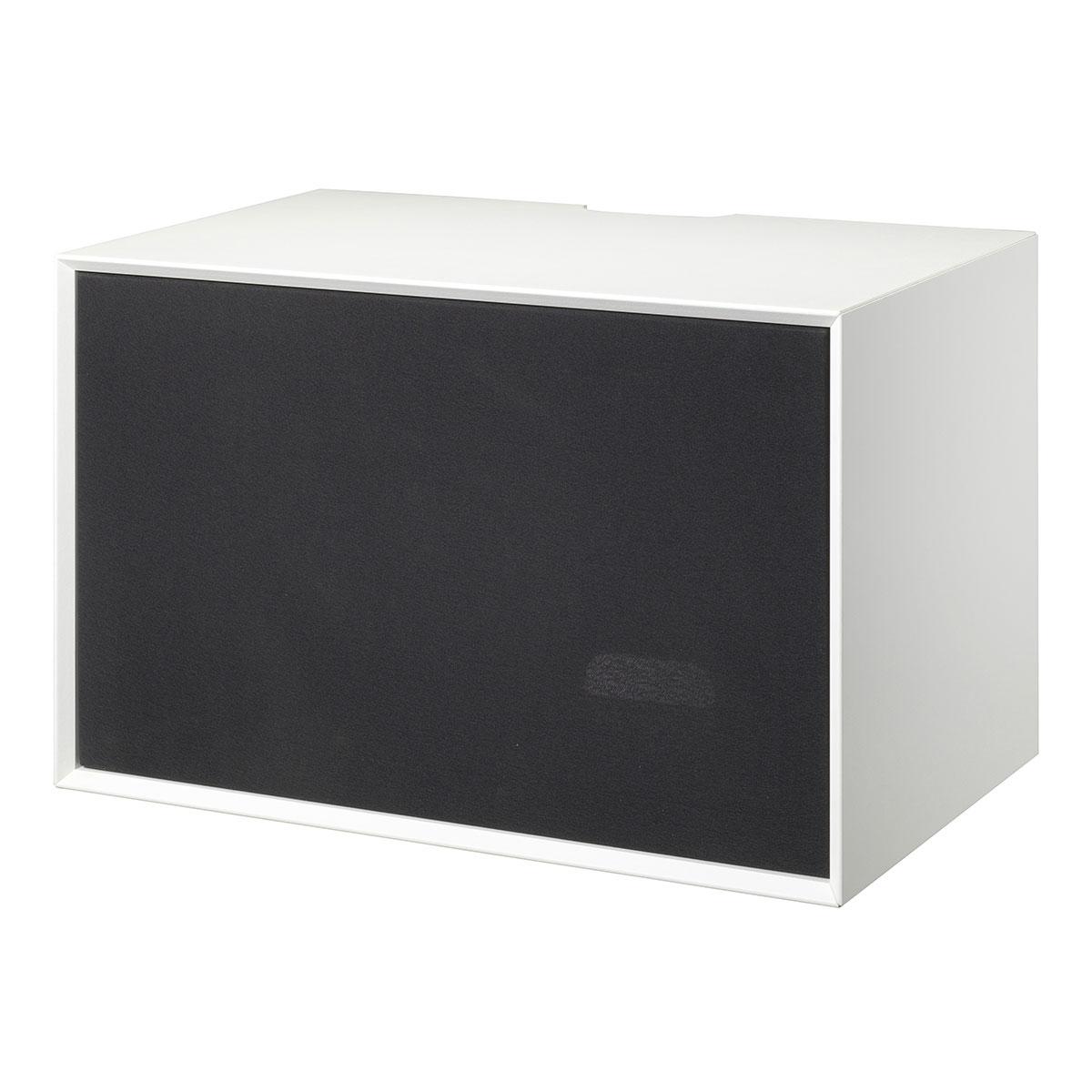 Image of   Living&more skab med stoflåge - The Box - 37 x 58 x 34 cm - Hvid/sort