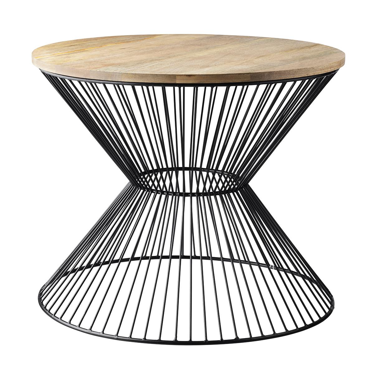 Billede af Living&more sofabord - Herla - Mangotræ/aluminium