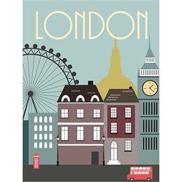 Image of   London plakat - af Rikke Axelsen