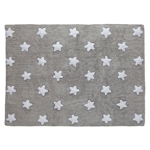 Lorena Canals gulvtæppe - Stjerner - Grå