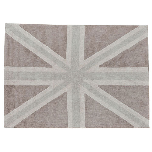 Lorena Canals gulvtæppe - Union Jack - Grå