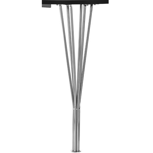 Lotus elipse spisebord   102 x 152 cm krom ben og hvid bordplade ...