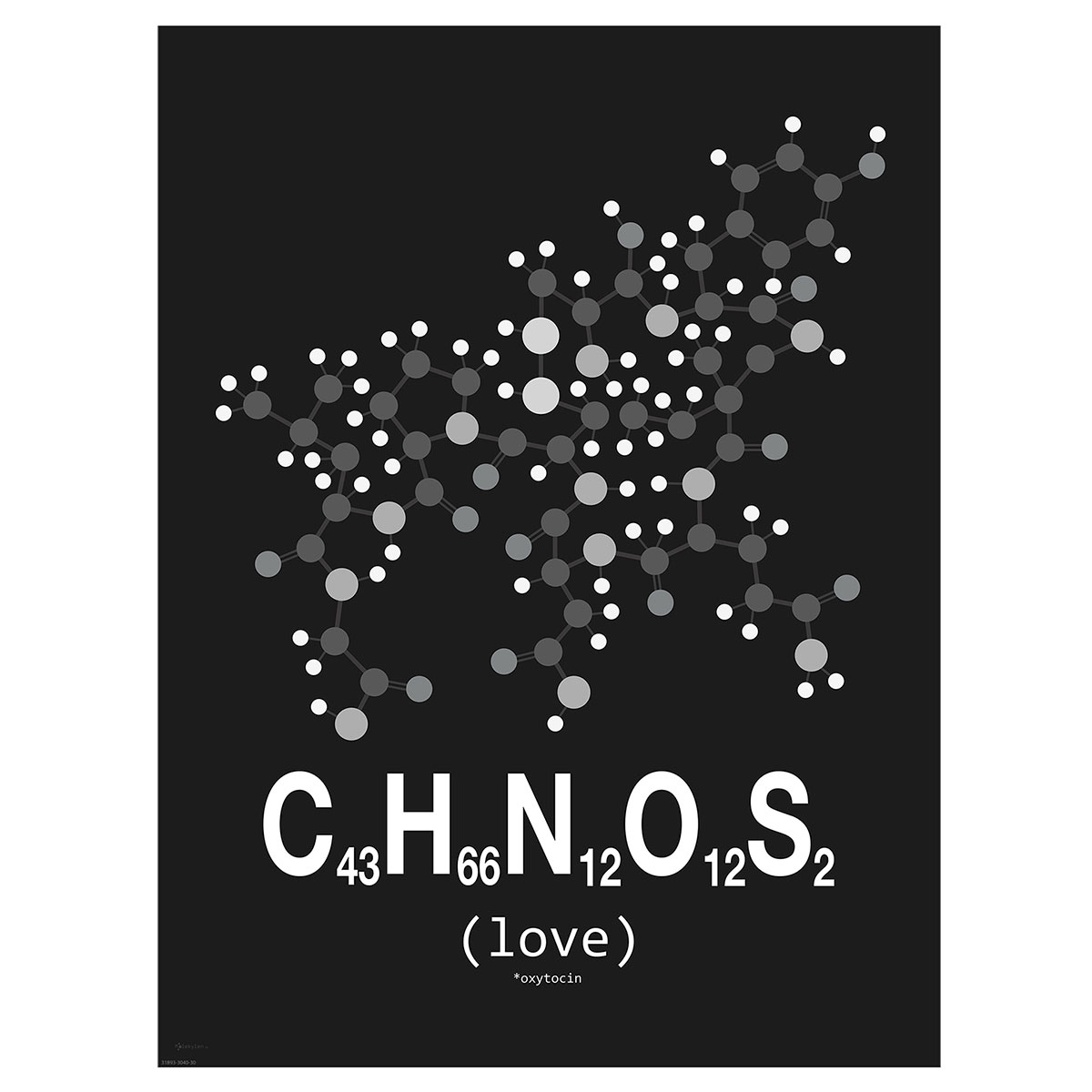 Image of   Love plakat - Molekylen.dk