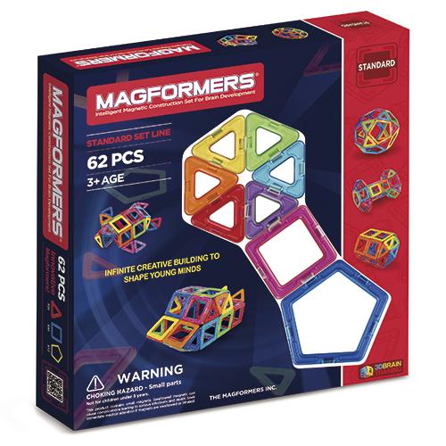 Image of   Magformers byggesæt - 62 dele