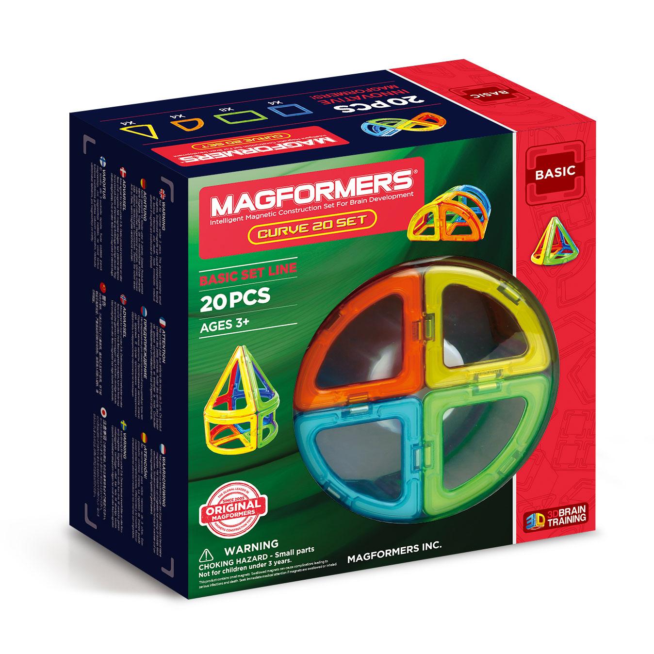 Image of   Magformers byggesæt - Curve - 20 dele