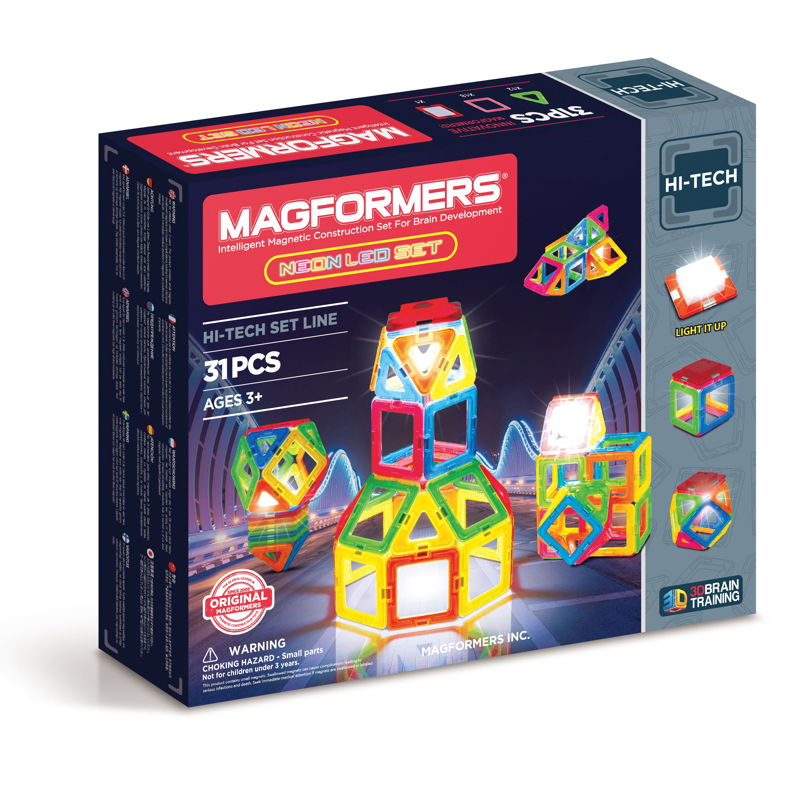 Image of   Magformers byggesæt - Neon LED set - 31 dele