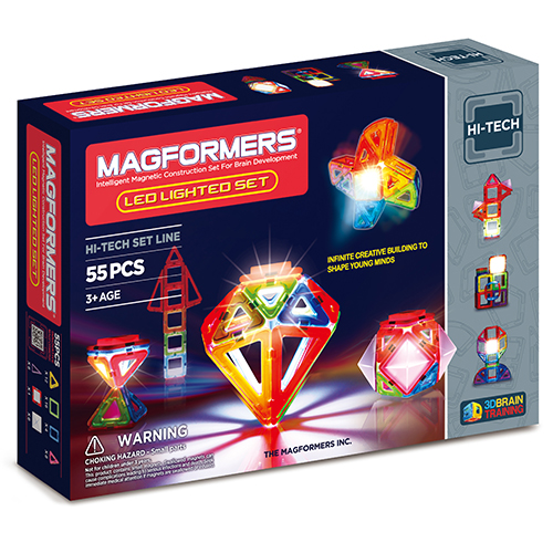 Image of   Magformers LED Lighted set - 55 dele