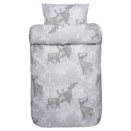Ubrugte Mascot sengetøj - Hallgrim - Grå 100% bomuldsflonel - 140 x 200 cm UB-78