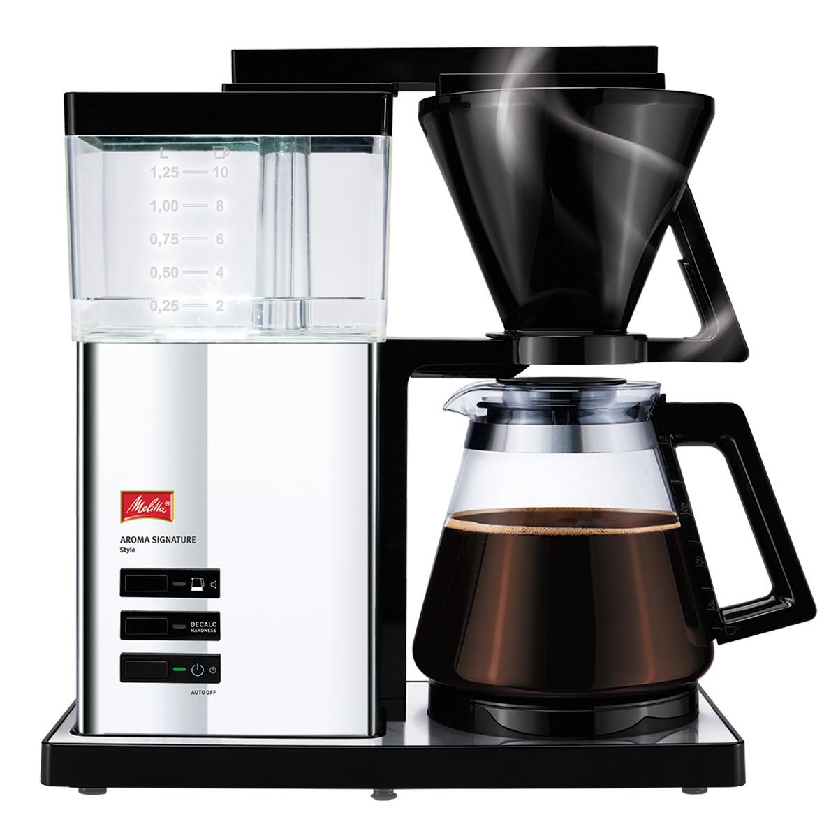 Image of   Melitta kaffemaskine - Signature Deluxe Style - Krom