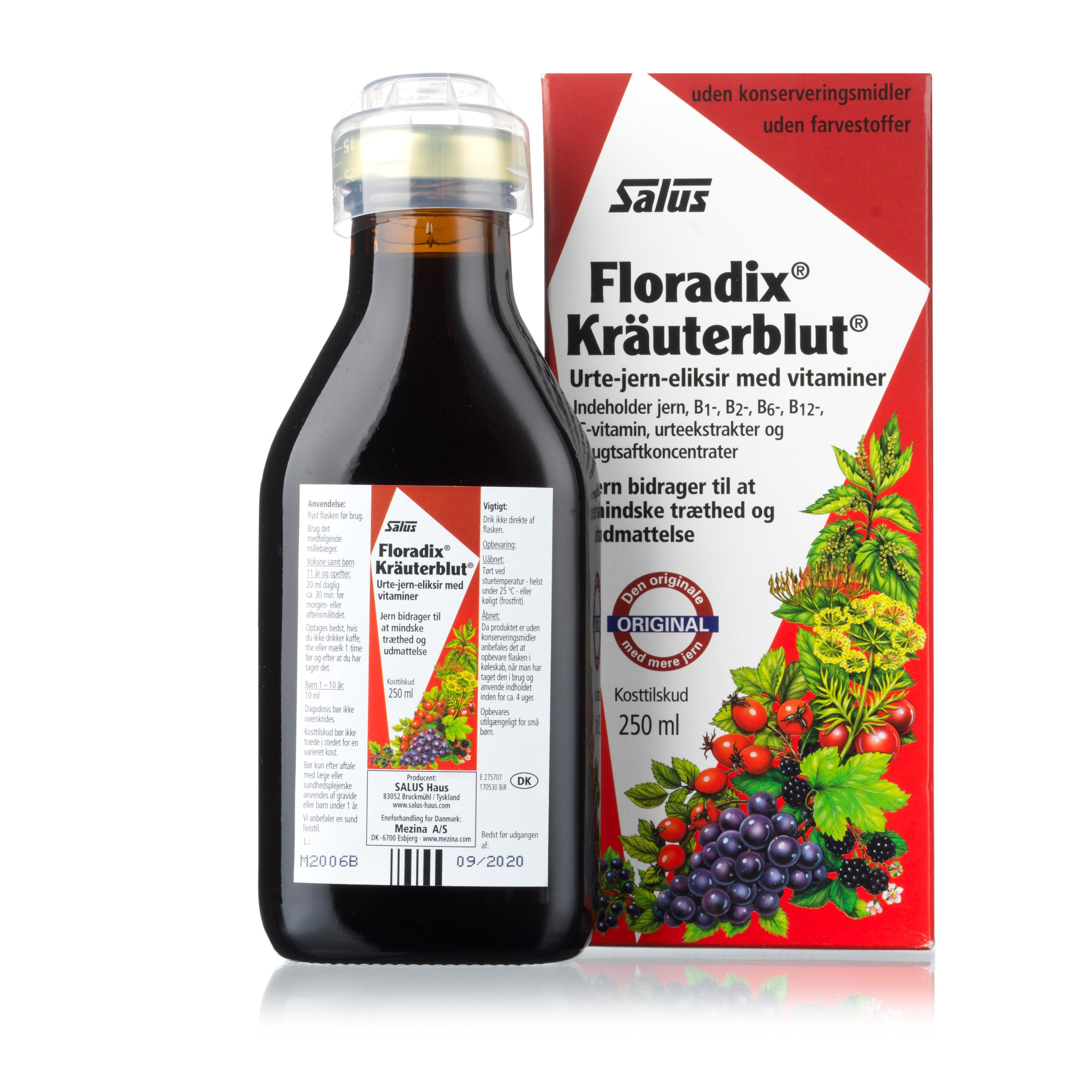 Billede af Mezina Floradix Kräuterblut - 250 ml