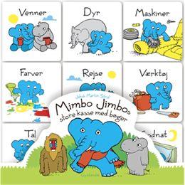 Billede af Mimbo Jimbos store kasse med bøger - Papbog