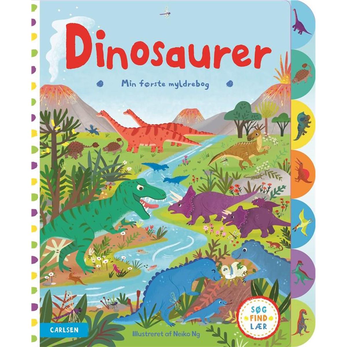 Min første myldrebog: dinosaurer - Papbog