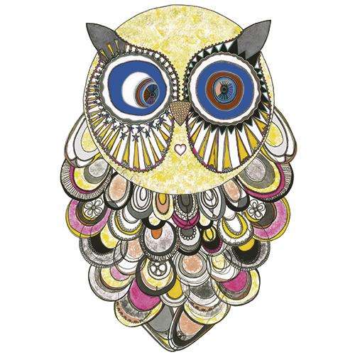 Image of   Mona Owl plakat - af Anne-Sofie Holm