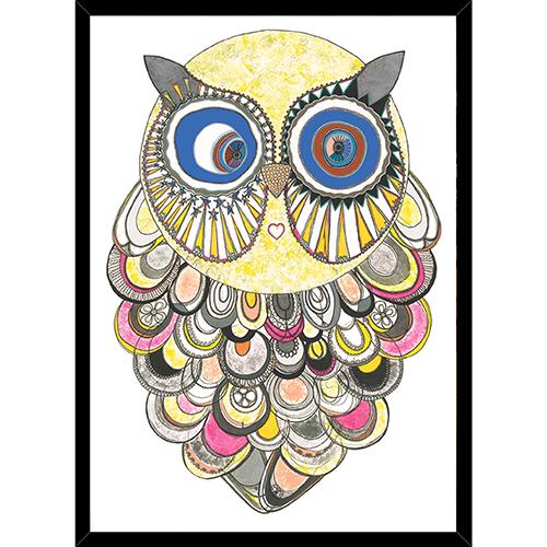Image of   Mona Owl plakat i ramme - af Anne-Sofie Holm