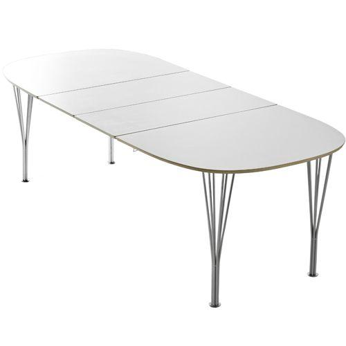 Morgan elipse spisebord   102 x 152 cm krom ben og hvid bordplade ...