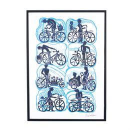Image of   Morten Christoffersen plakat - Cykler og cyklister