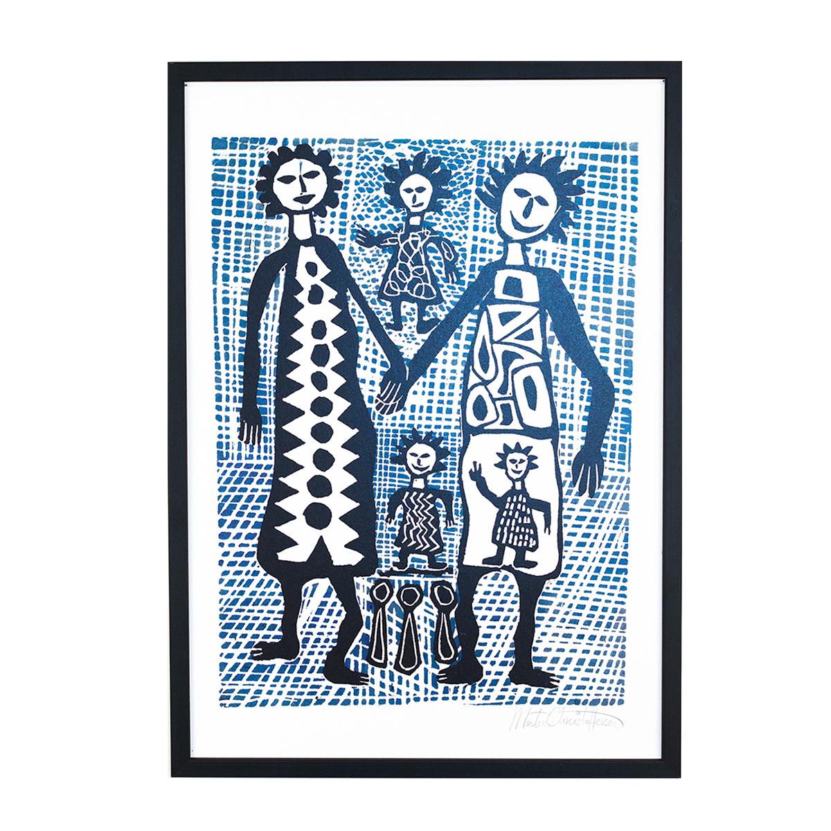 Image of   Morten Christoffersen plakat - Familien