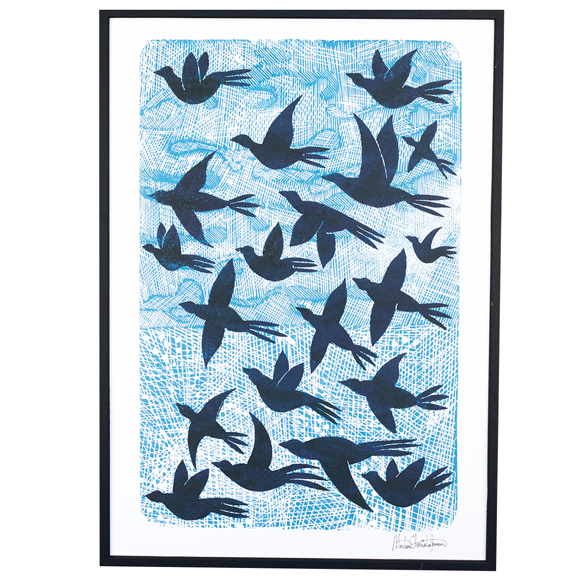 Image of   Morten Christoffersen plakat - Fuglefolk