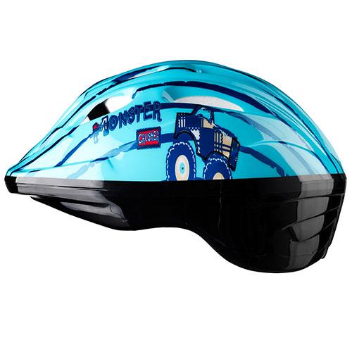 Mustang cykelhjelm til børn - Blå med monster truck | Hjelme