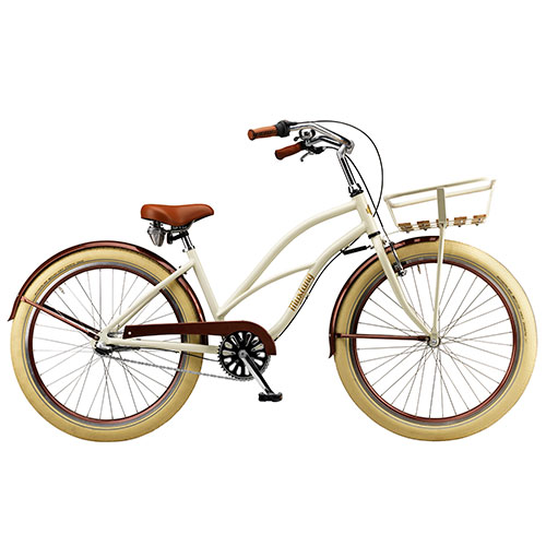 "Mustang Desiree 26"" cruiser pigecykel med 3 gear - Café au lait"