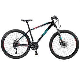"""Mustang Makalu 27,5"""" mountainbike med 27 gear - Sort/rød/blå"""