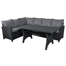 Nanna loungesæt inkl. hynder - Sort