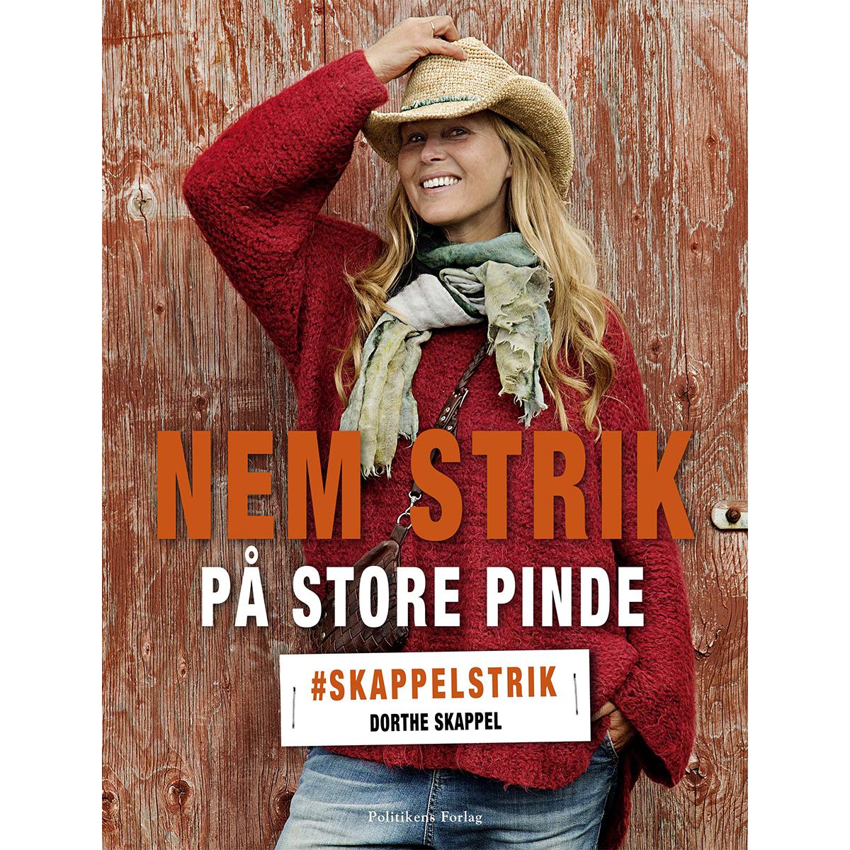 Image of   Nem strik på store pinde - #Skappelstrik - Indbundet