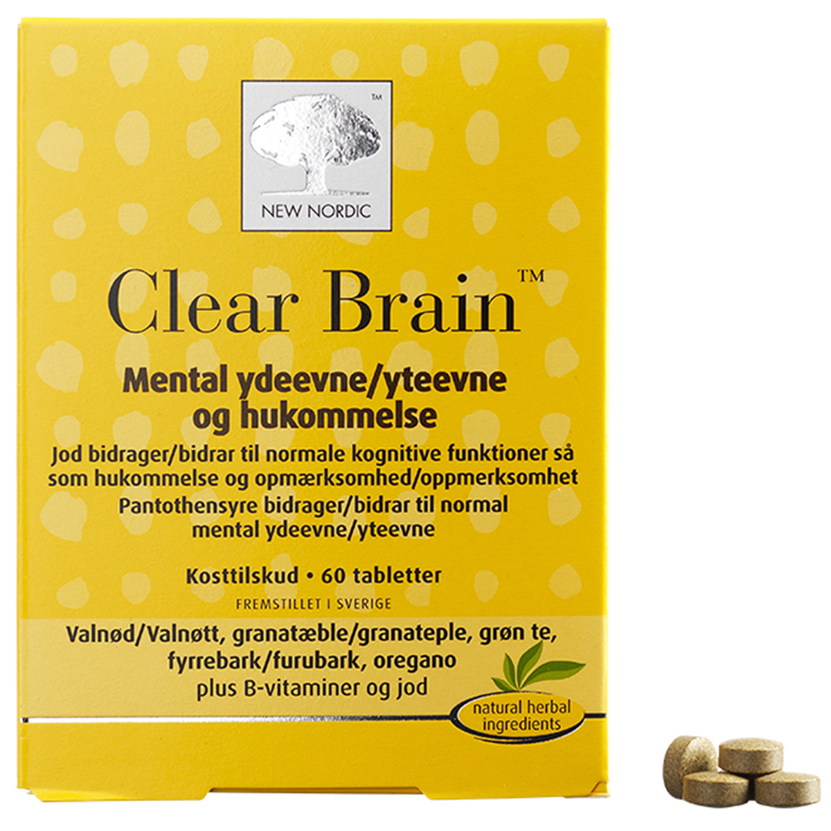 Image of   New Nordic Clear Brain - 60 stk.