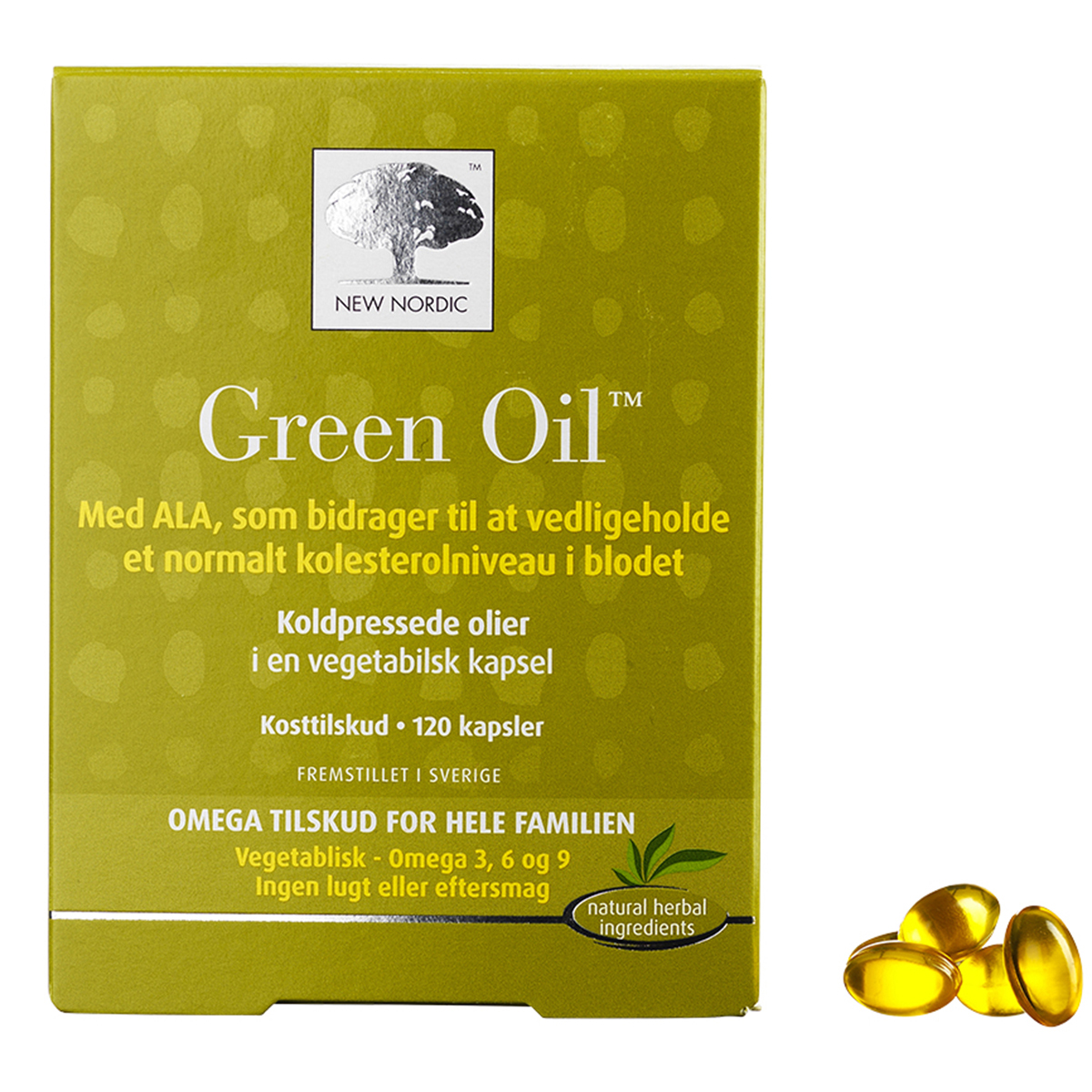Image of   New Nordic Green Oil - 120 stk.