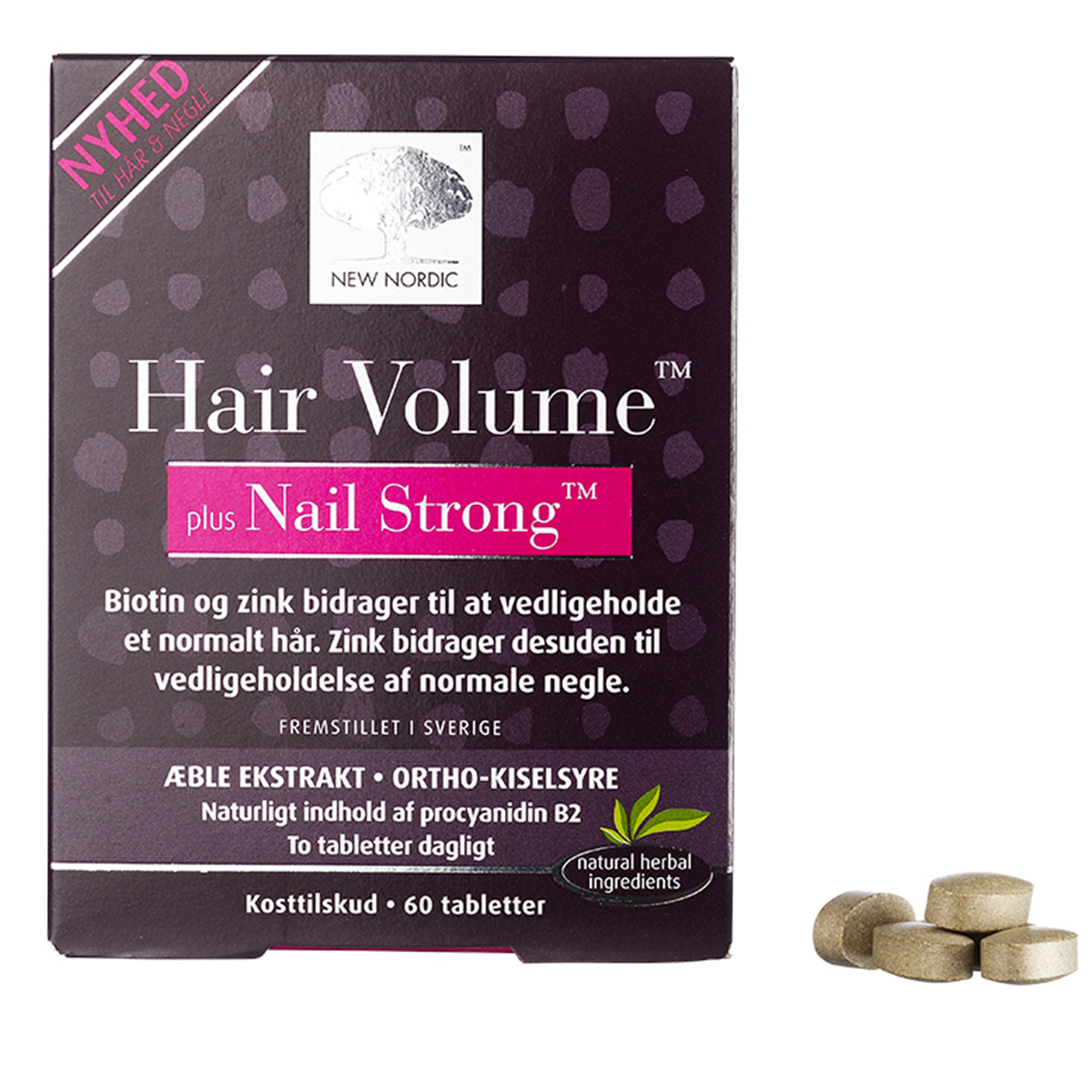 Image of   New Nordic Hair Volume plus Nail Strong - 60 stk.