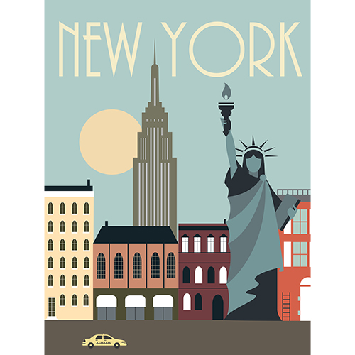 Image of   New York plakat - af Rikke Axelsen