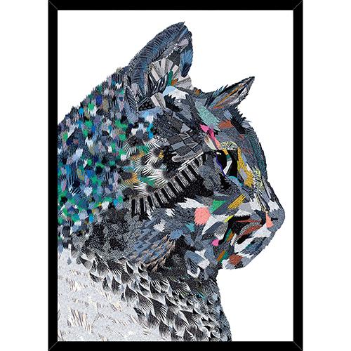 Image of   Nightrunner Cat plakat i ramme - af Anne-Sofie Holm
