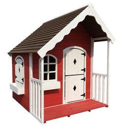 Nordic Play legehus - Rød/hvid