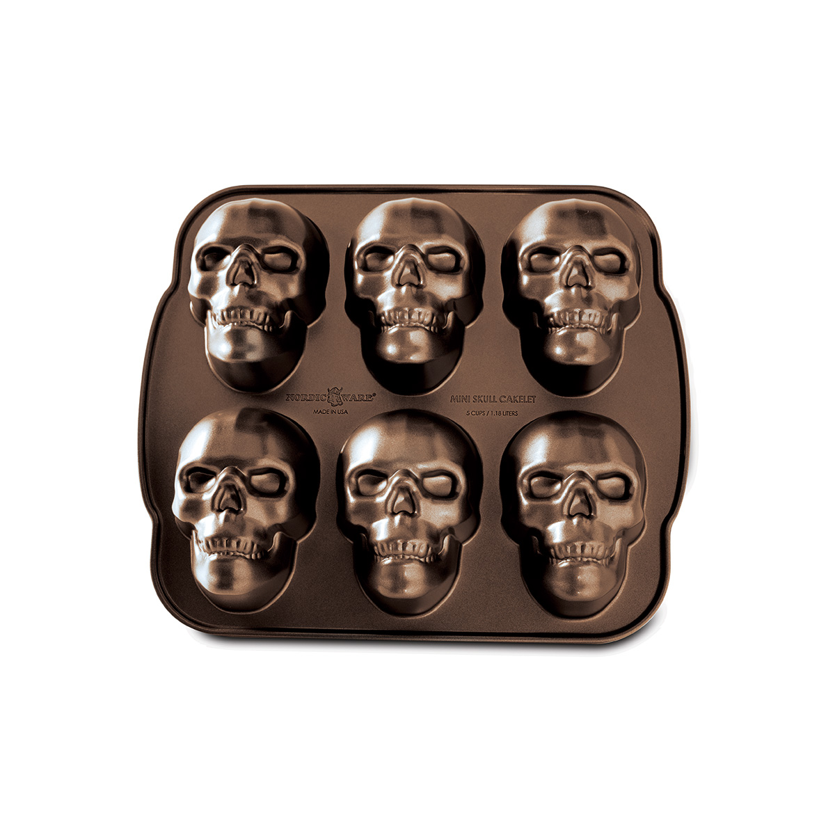 Image of   Nordic Ware bageform - Haunted Skull Cakelet Pan