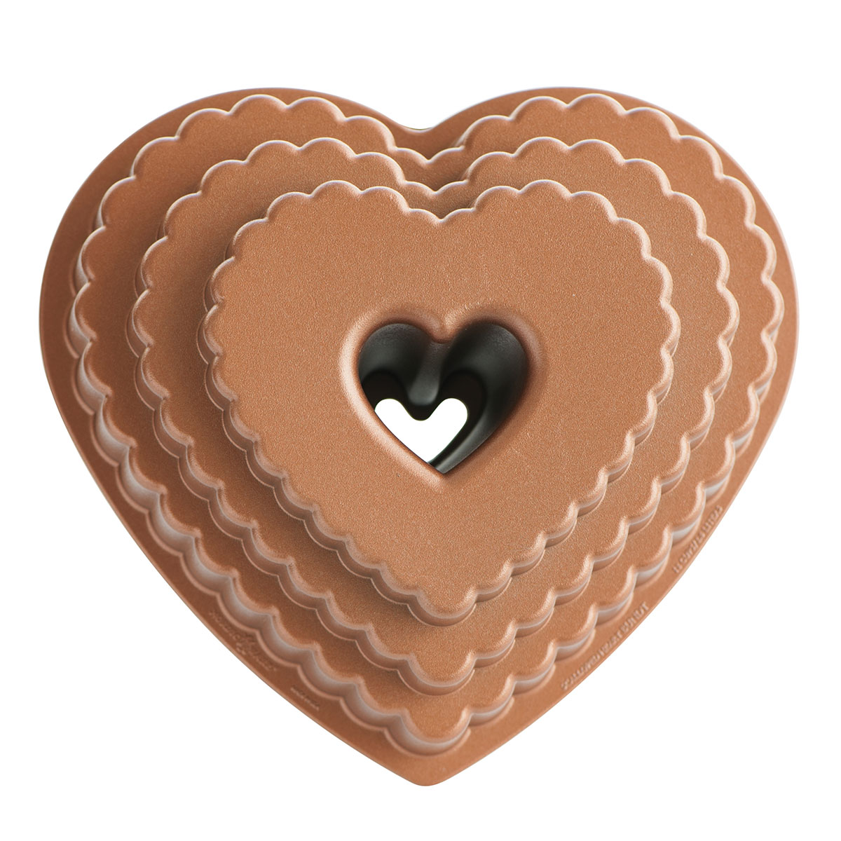 Image of   Nordic Ware bageform - Tiered Heart Bundt Pan