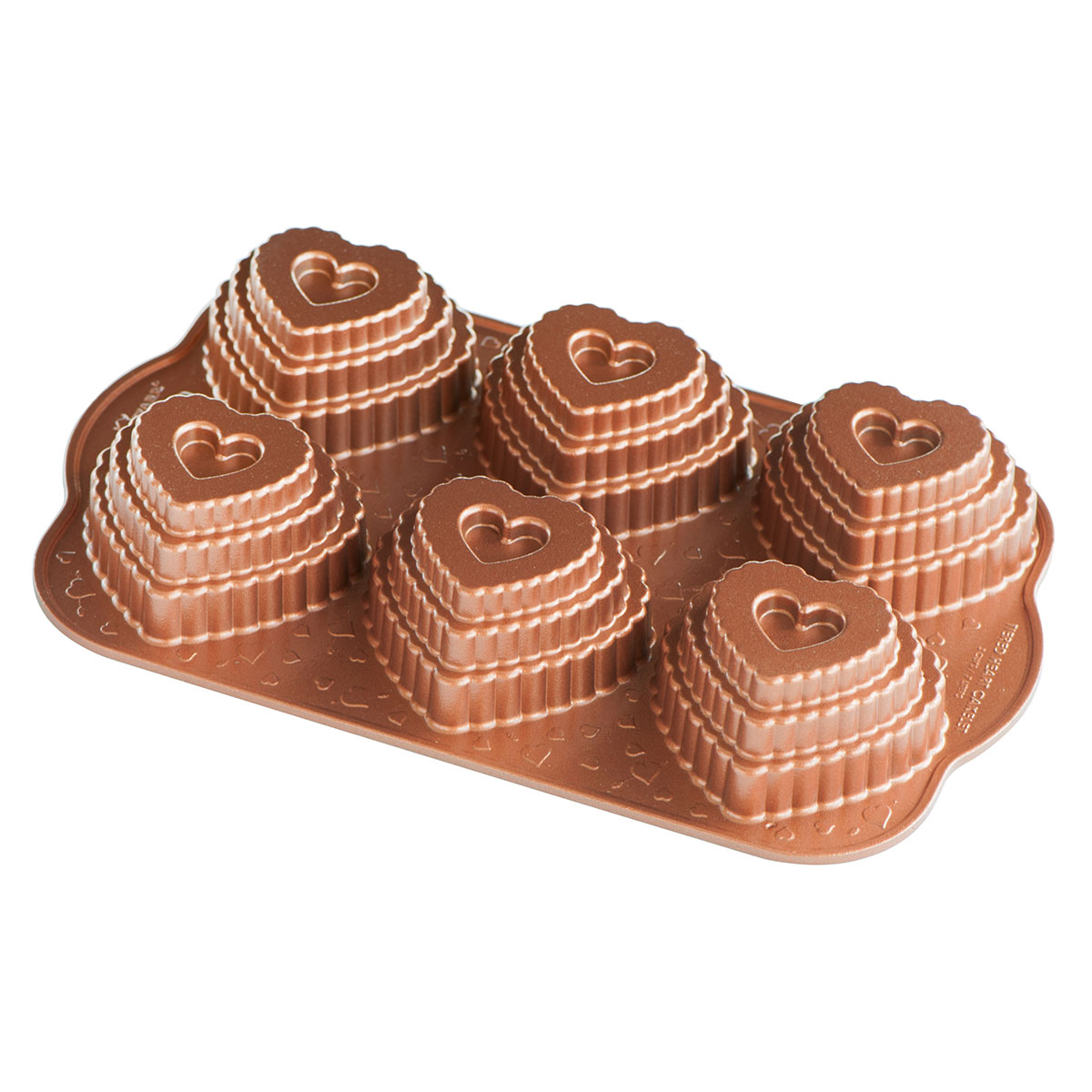 Image of   Nordic Ware bageform - Tiered Heart Cakelet Pan