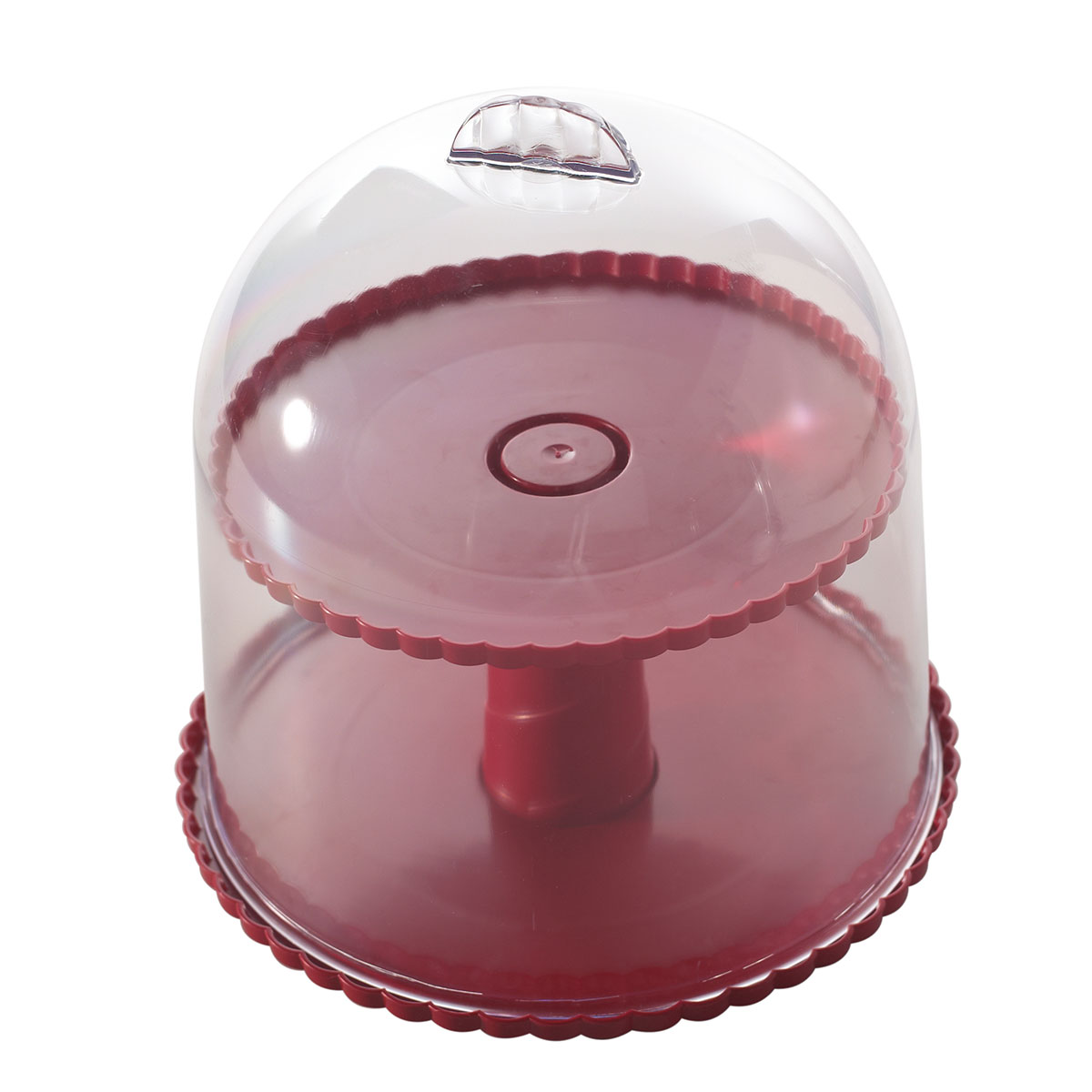 Image of   Nordic Ware kageklokke i to lag - Dessert Stand with Clear Dome Lid