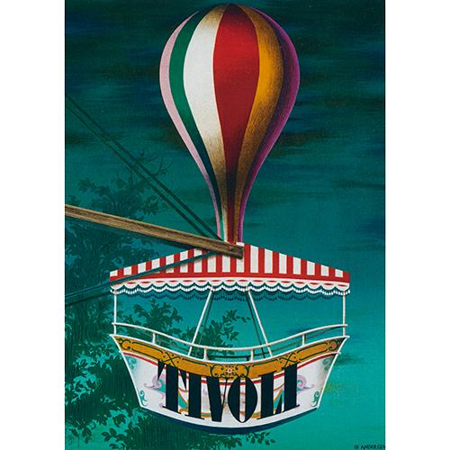 Image of   Nostalgi Ballongynge i Tivoli plakat - af Ib Andersen