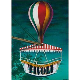 Nostalgi Ballongynge i Tivoli plakat - af Ib Andersen