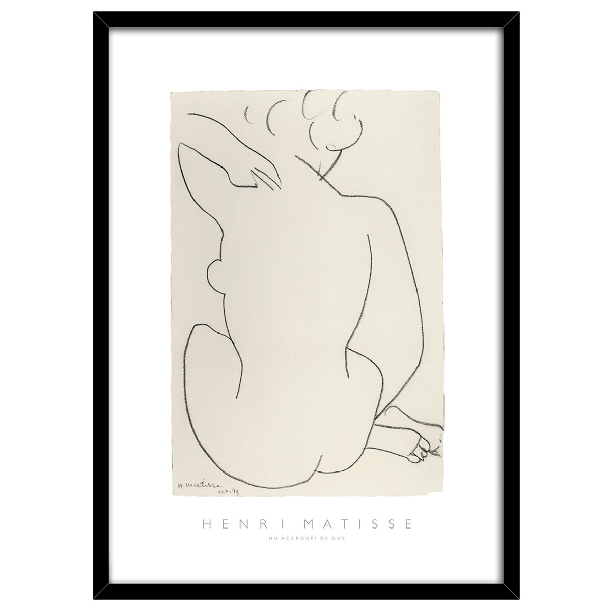 Image of   Nude plakat i ramme - af Henri Matisse