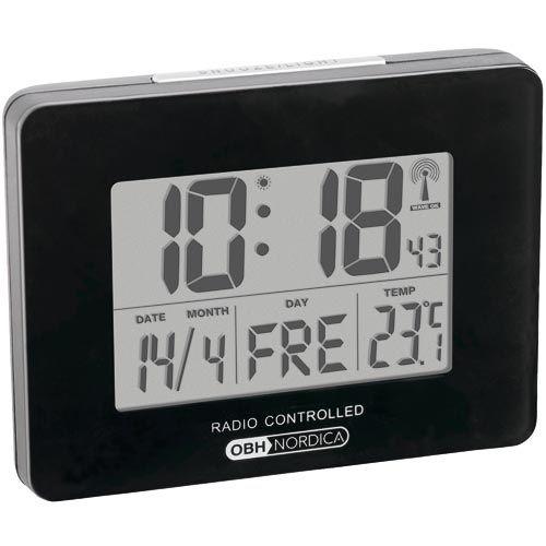 OBH Nordica vækkeur - 4951 Med 2 alarmer samt temperatur- og datovisning - Coop.dk