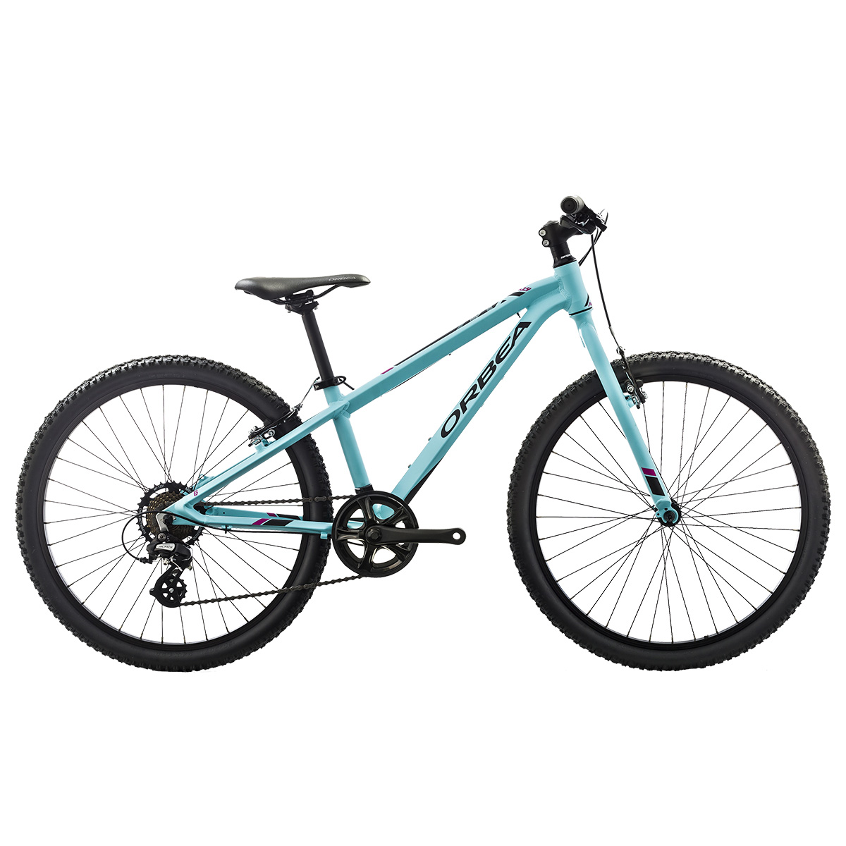 "Image of   Orbea MX20 Dirt 24"" mountainbike med 7 gear - Blå/pink"