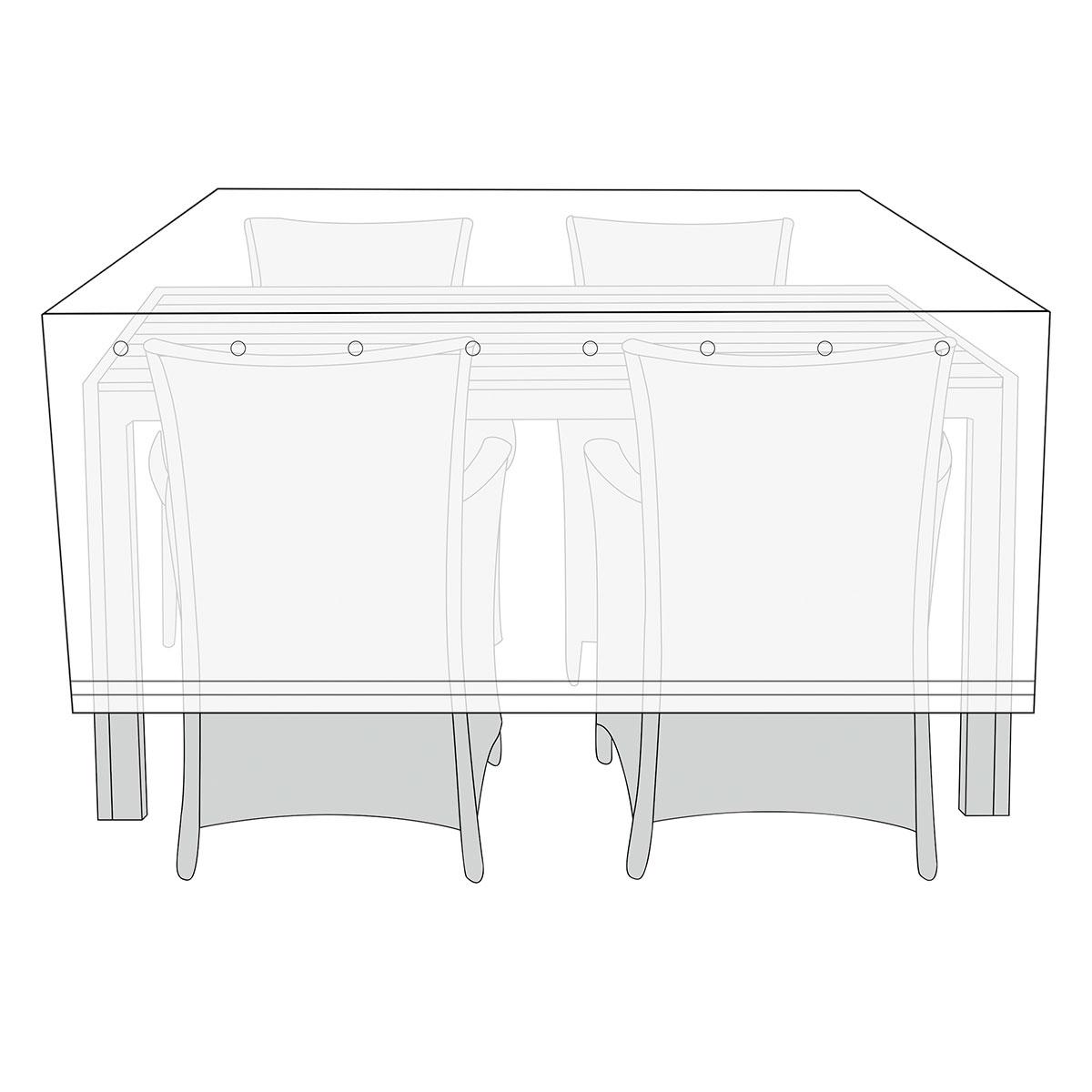 Overtræk til havemøbelsæt - Antracit
